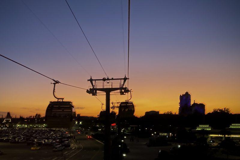 Disney Skyliner at Sunset