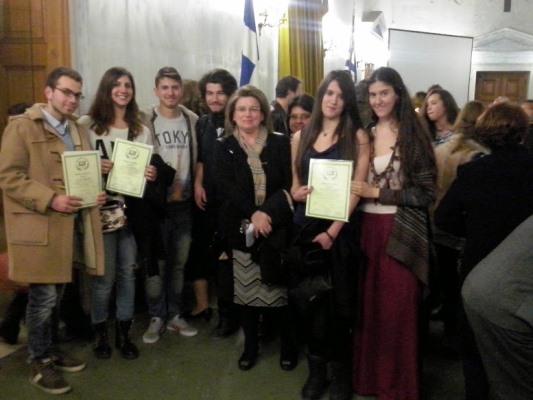Βράβευση από την Ένωση Ελλήνων Λογοτεχνών