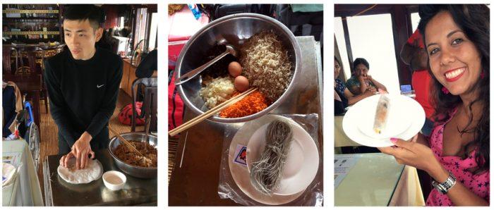 Aula de culinária vietnamita