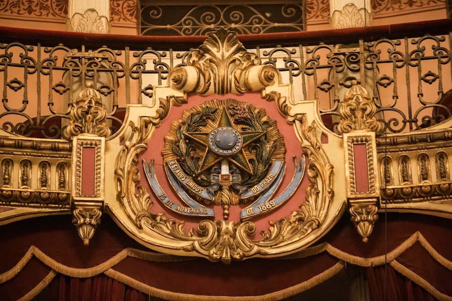 Simbolo na plateia do Teatro Amazonas em Manaus