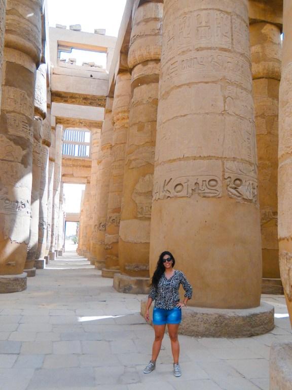 Grande Salão Hipostilo no Templo de Karnak