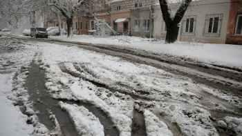 улица снежная каша1
