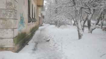 дом снег