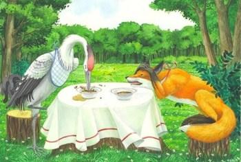 лиса и журавель