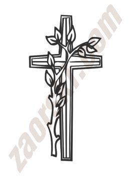 Zaorski - zdobienie krzyżem wariant 6