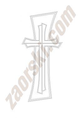 Zaorski - zdobienie krzyżem wariant 12
