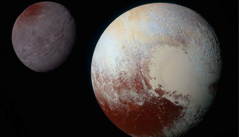 Caronte e Plutão: dois mundos completamente diferentes