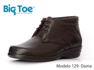 Zapato Big Toe para pie diabético de Dama Modelo 129D Café