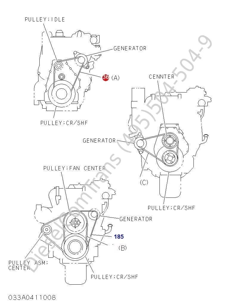 Ремень приводной HITACHI 6WG1-T