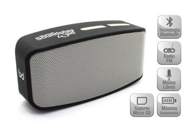 Altavoz SoundPlay Wild Bluetooth Silver Biwond