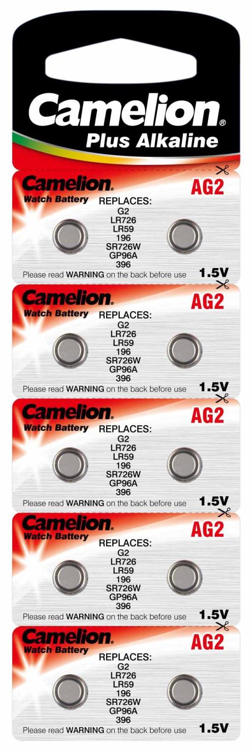 Boton Alcalina AG2/LR726 1.5V (10 pcs) Camelion