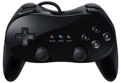 Mando Clasico Pro Wii Negro Comp.