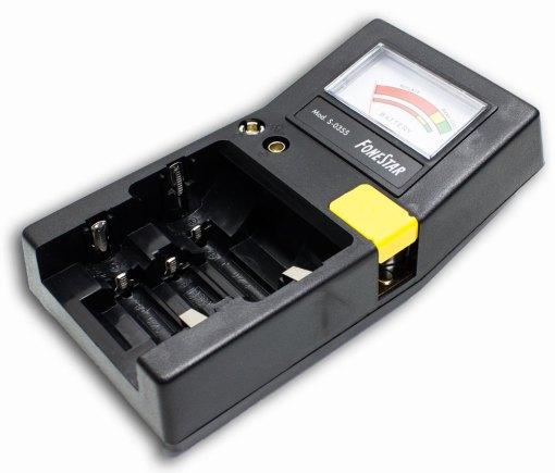 Comprobador de pilas y baterías recargables Fonestar