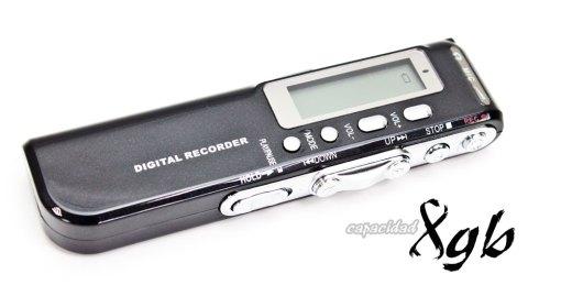 Grabadora de voz digital 8GB
