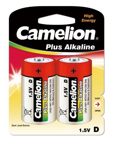 Plus Alcalina D 1.5V (2 pcs) Camelion