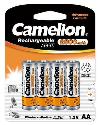 Recargable AA 2600mAh (4 pcs) Camelion