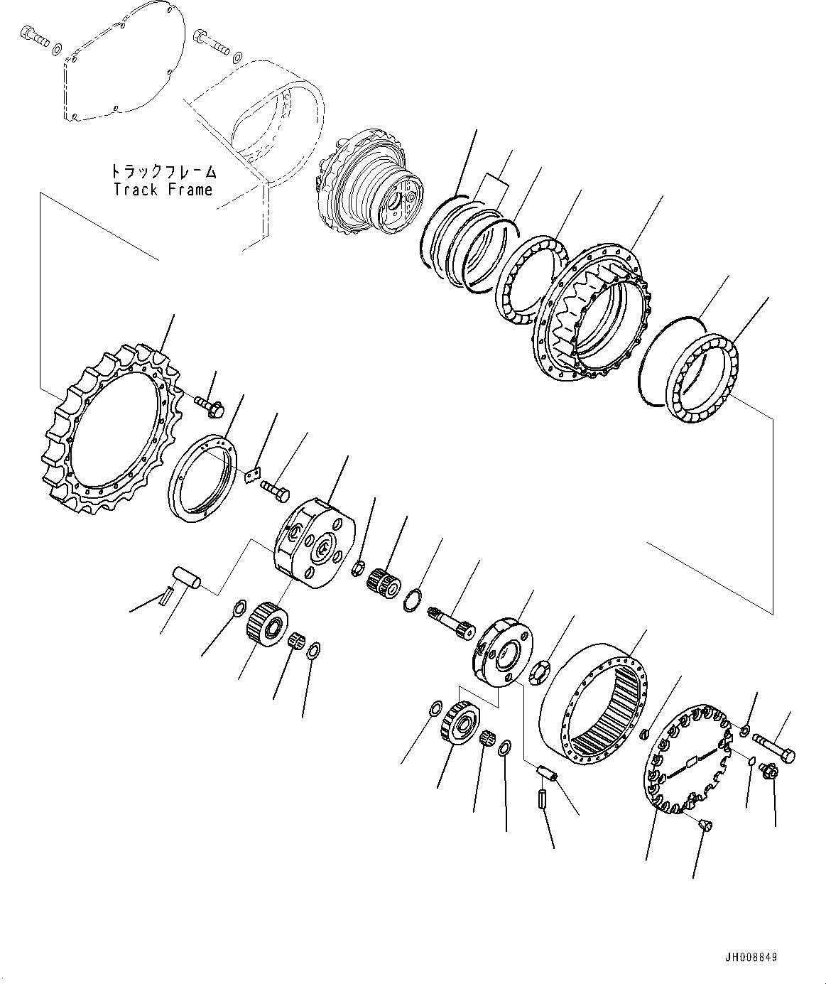 207-27-00560 Komatsu ПЕРЕДАЧА В СБОРЕ