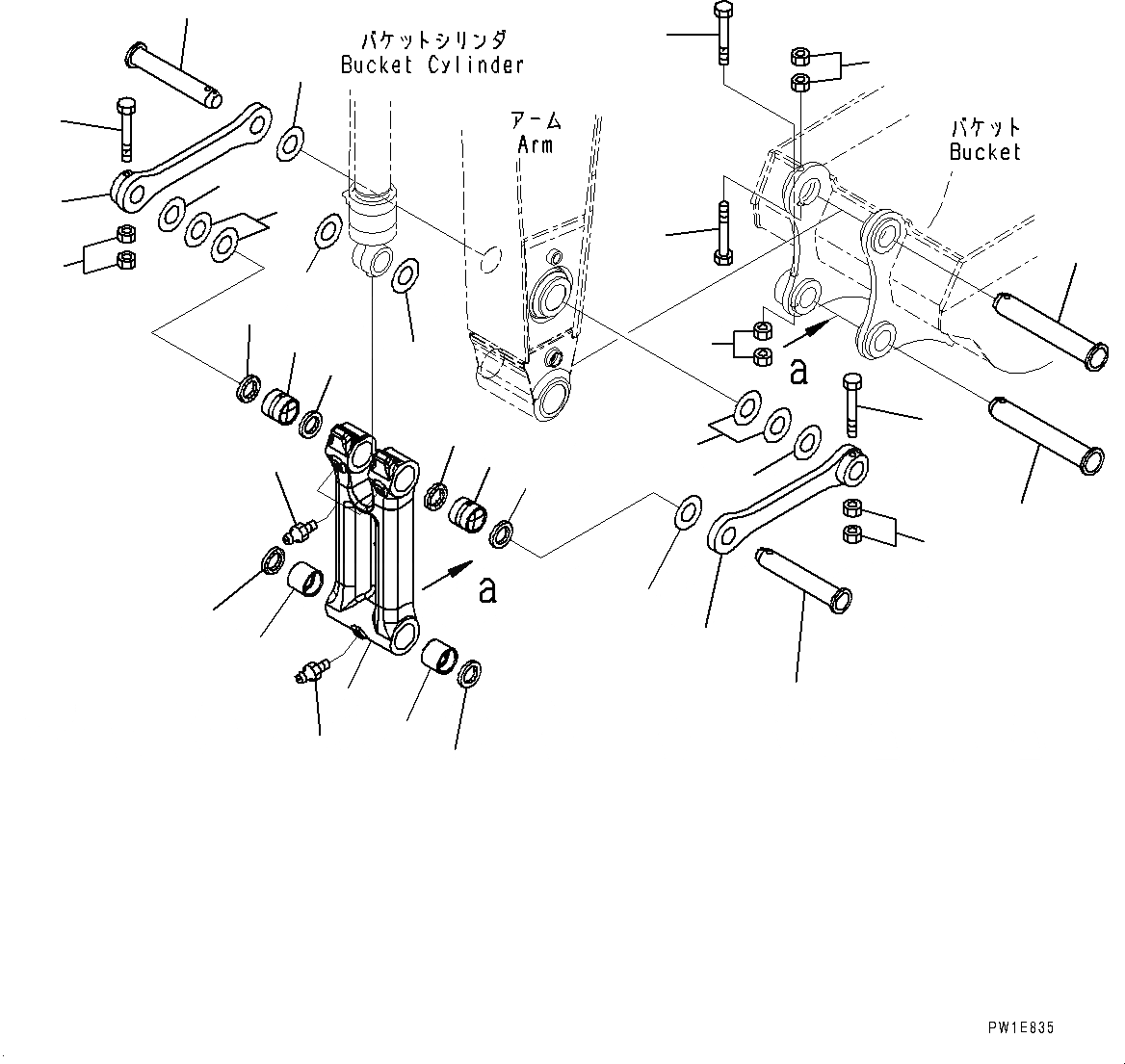 207-70-00480 Komatsu ТЯГА В СБОРЕ
