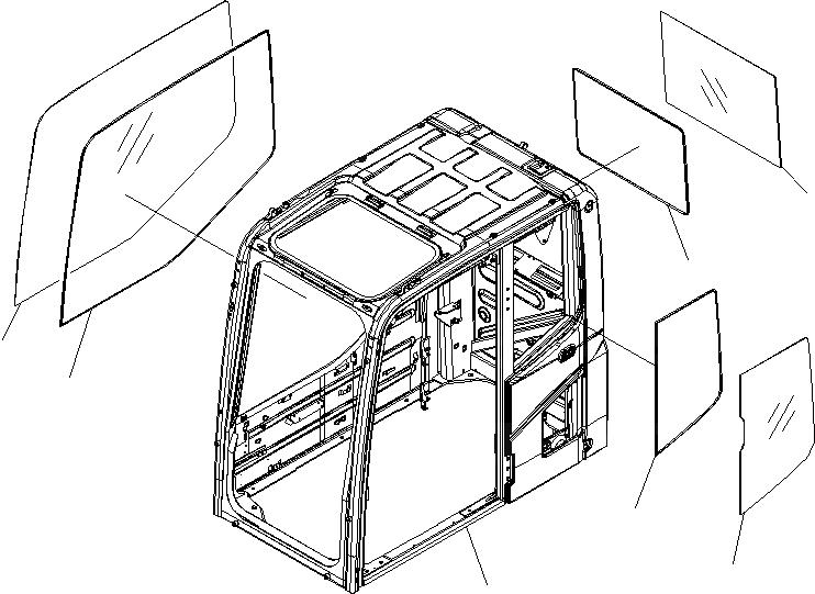 20Y-53-11841 Komatsu СТЕКЛО