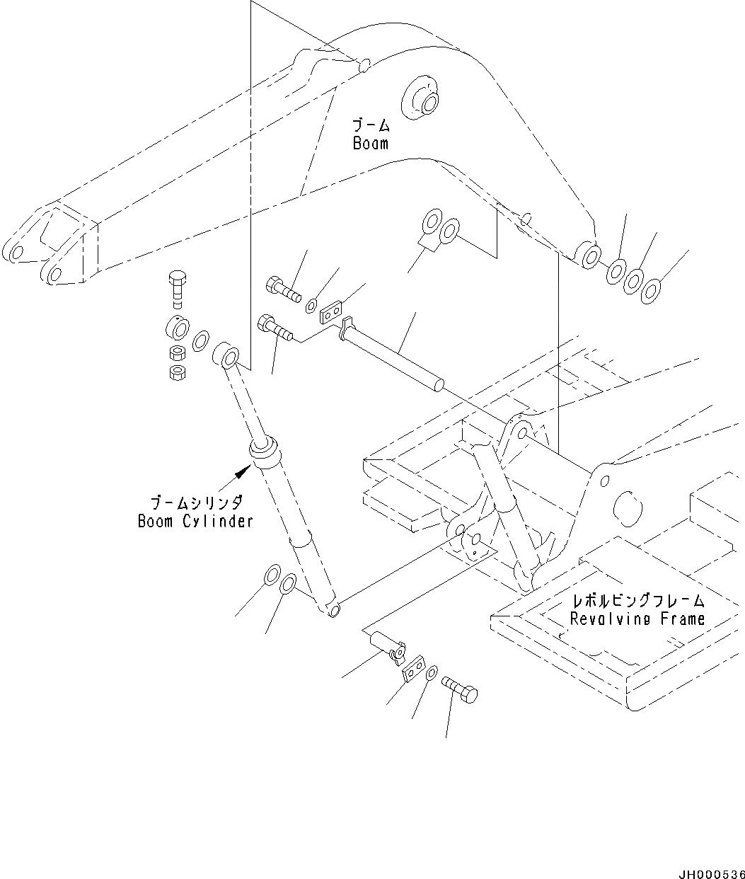 202-70-61160 Komatsu КРЕПЕЖНАЯ ОСЬ
