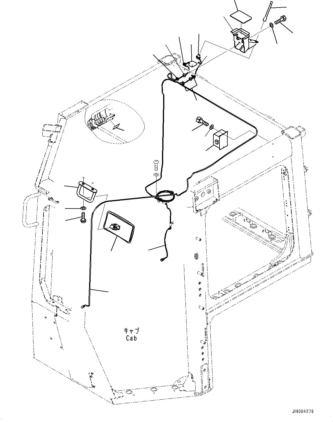 195-Z11-2180 Komatsu ЗЕРКАЛО