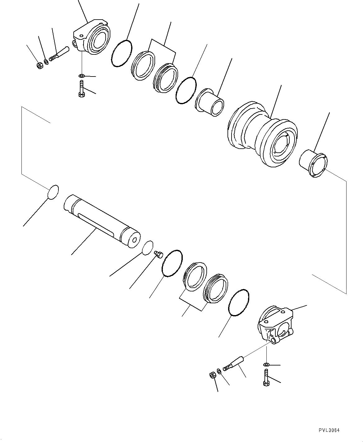21T-30-00550 Komatsu ОПОРНЫЙ КАТОК В СБОРЕ