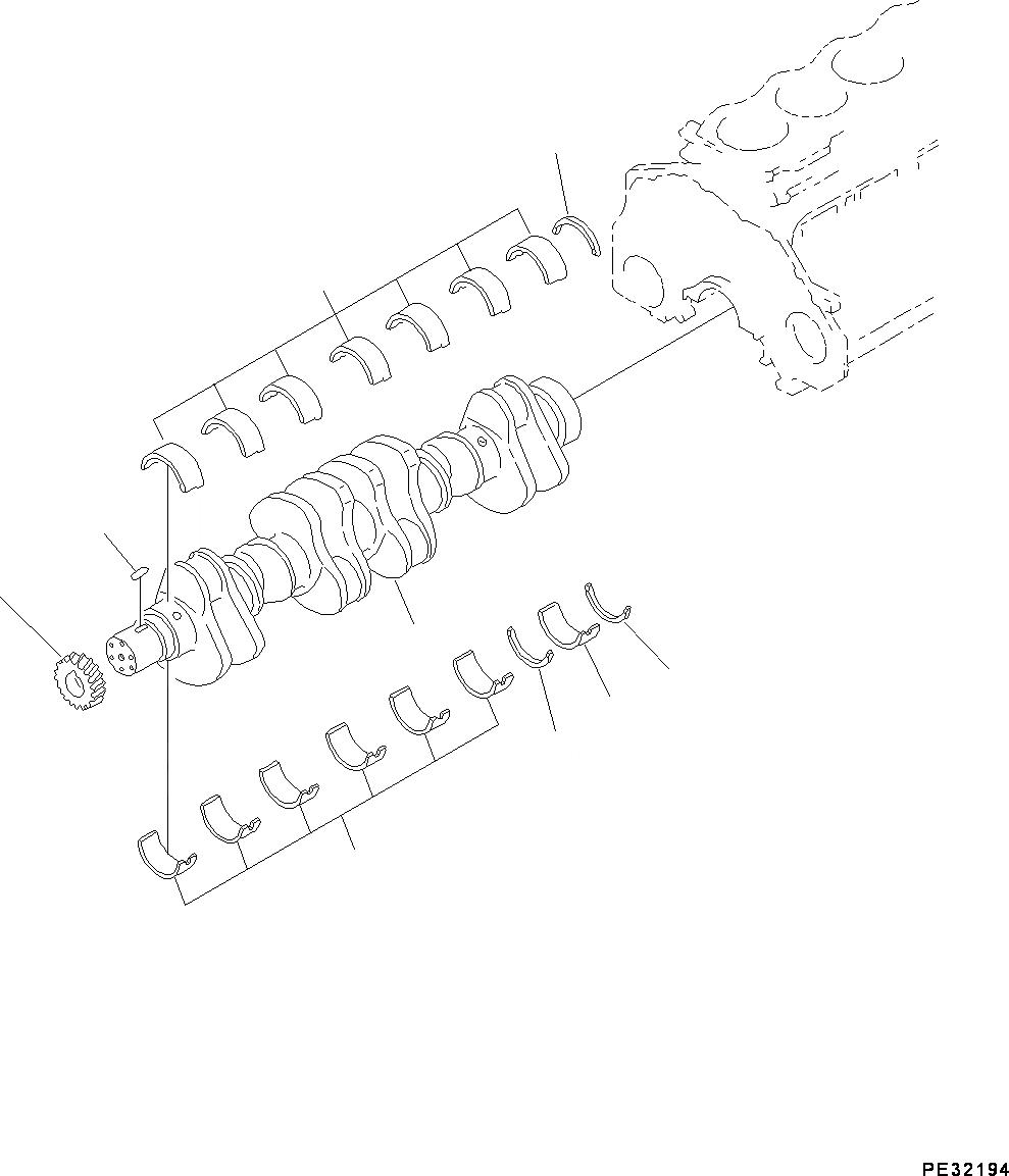 6150-21-8050 Komatsu УПОРНЫЙ ПОДШИПНИК