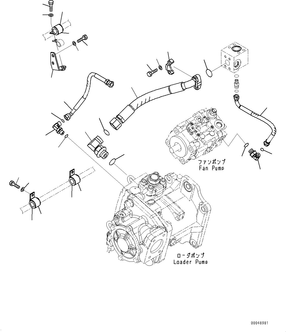 02764-00203 Komatsu ШЛАНГ