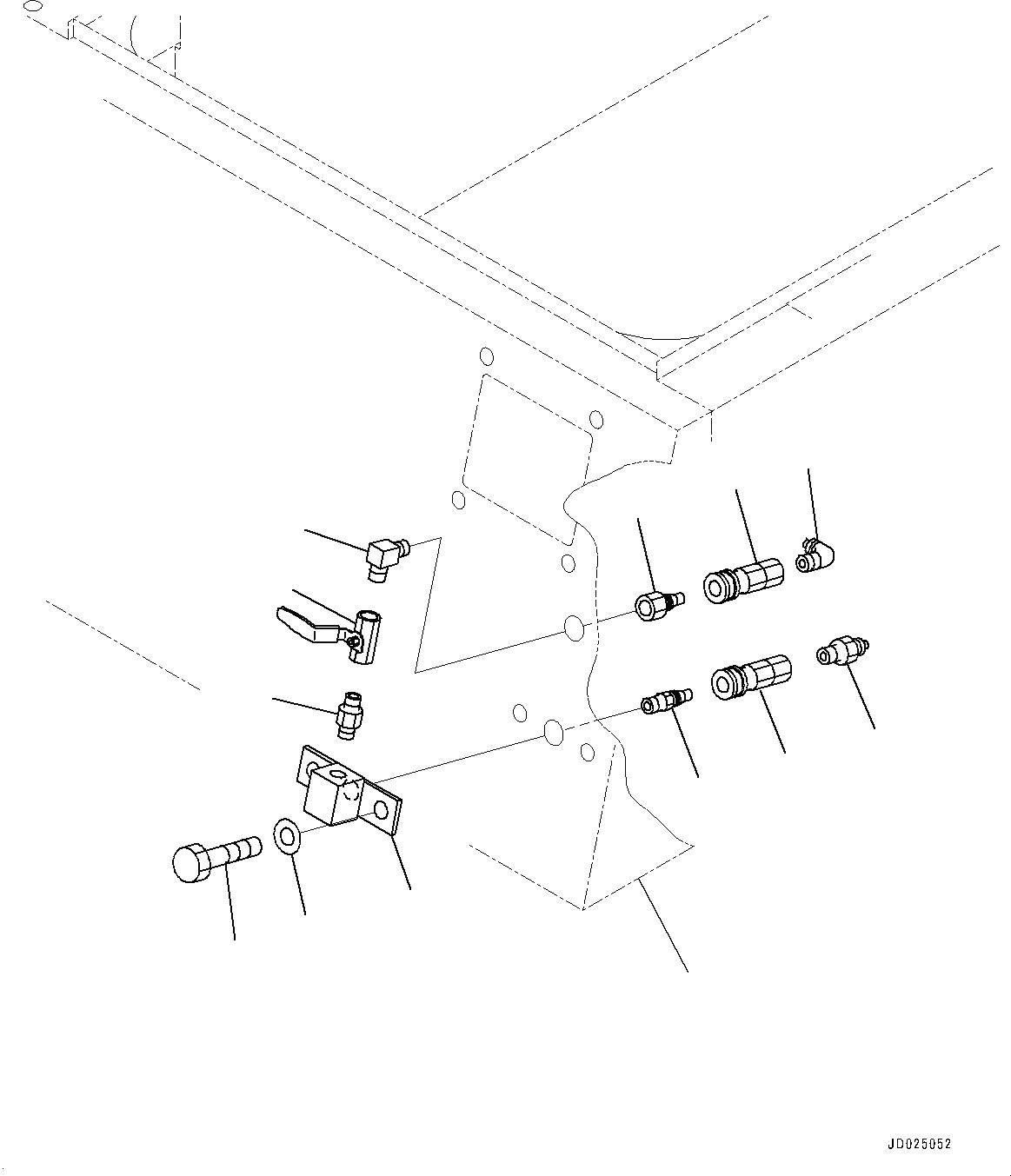 07880-20500 Komatsu ПЕРЕХОДНИК СТАЛЬНОЙ