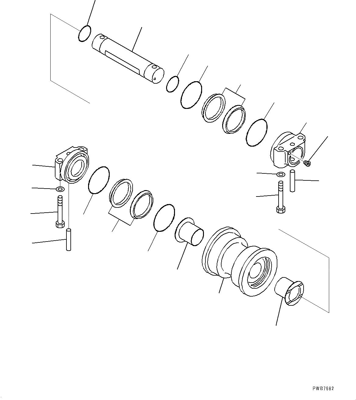 21N-30-00121 Komatsu КАТОК ОПОРНЫЙ