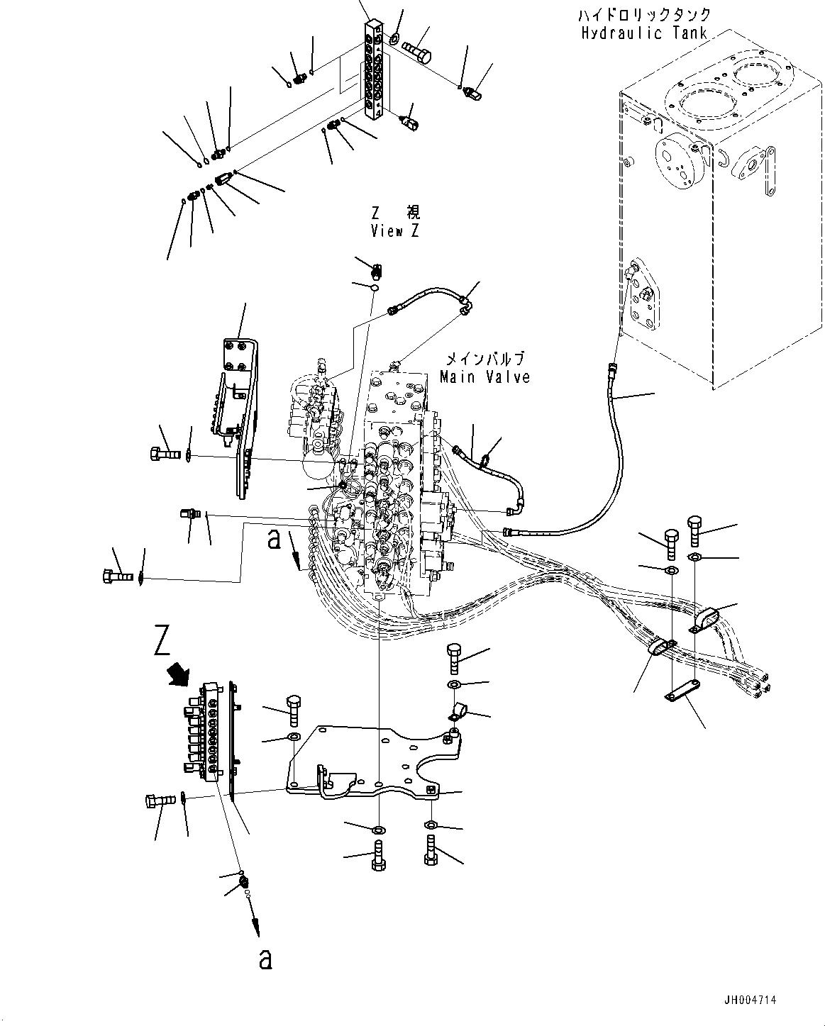 02741-00204 Komatsu ШЛАНГ