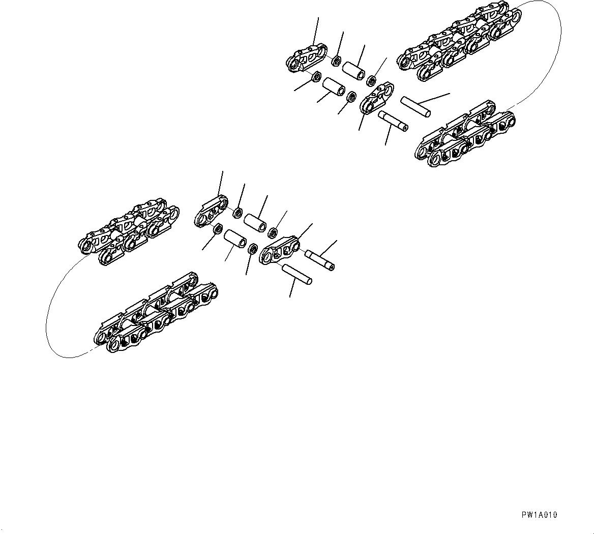 20Y-32-00310 Komatsu ЦЕПЬ В СБОРЕ