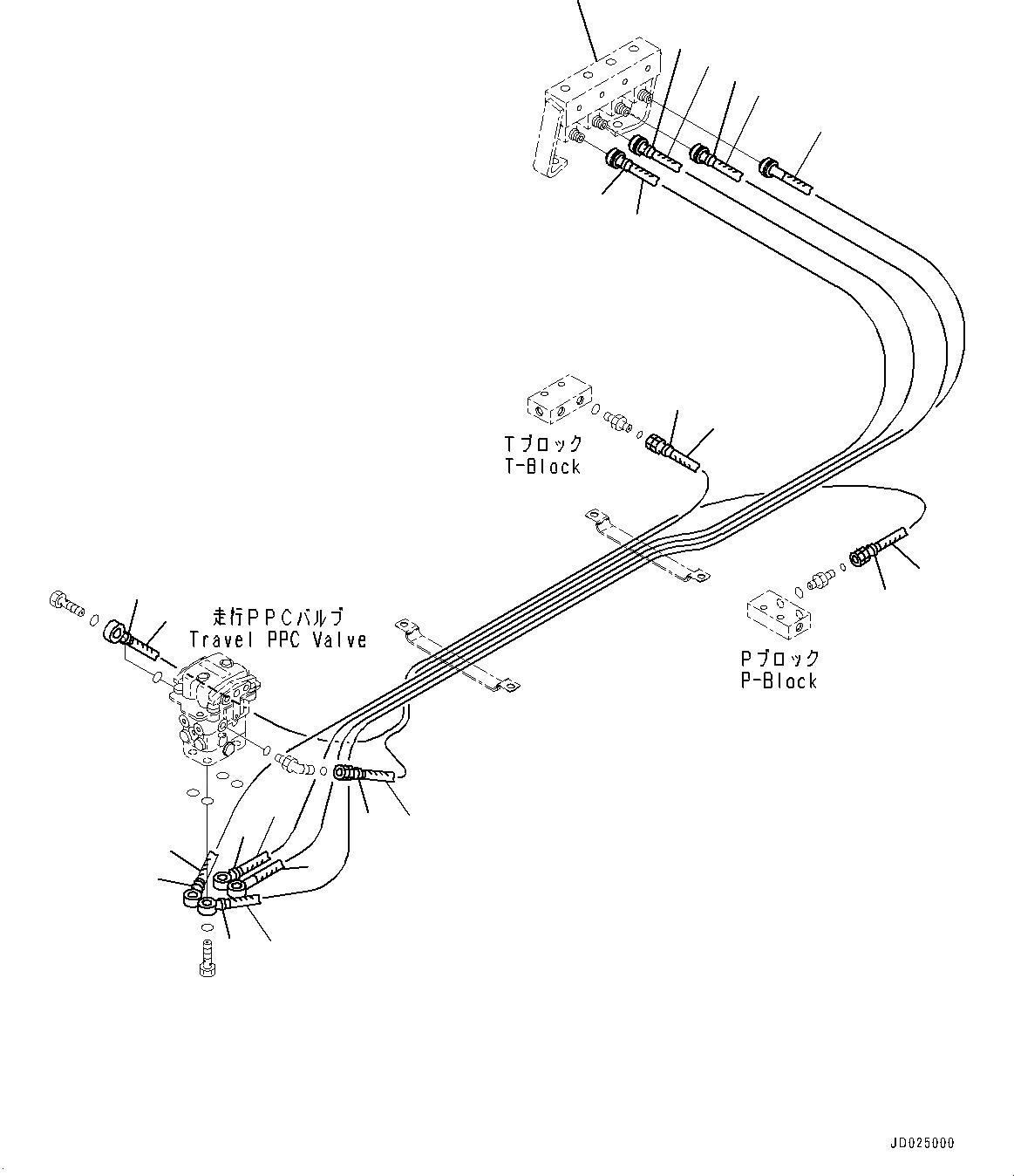 21N-64-37340 Komatsu ШЛАНГ РЕЗИНОВЫЙ АРМИРОВАННЫЙ МЕТАЛЛОМ