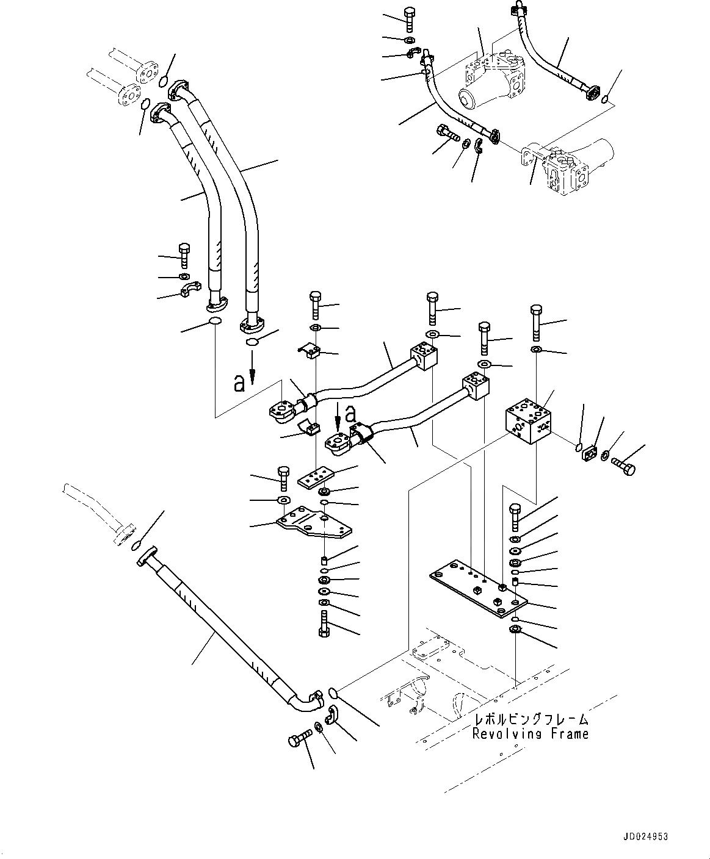 21N-62-38780 Komatsu ШЛАНГ РЕЗИНОВЫЙ АРМИРОВАННЫЙ