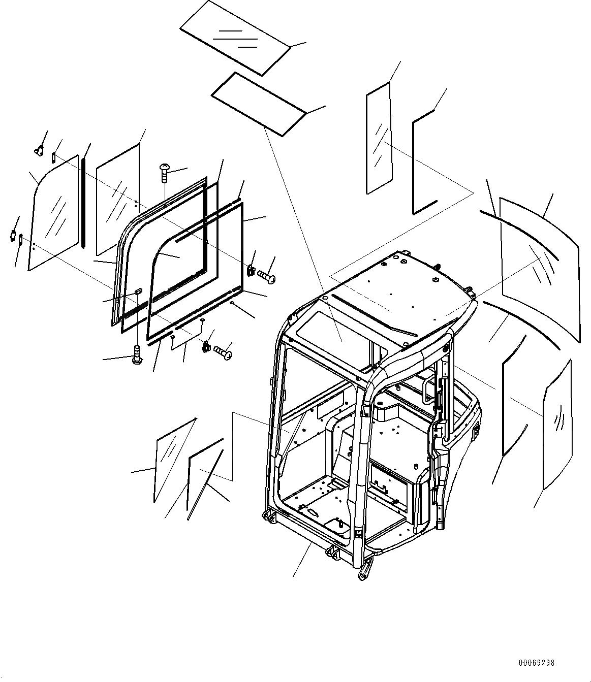 22F-54-34250 Komatsu СТЕКЛО