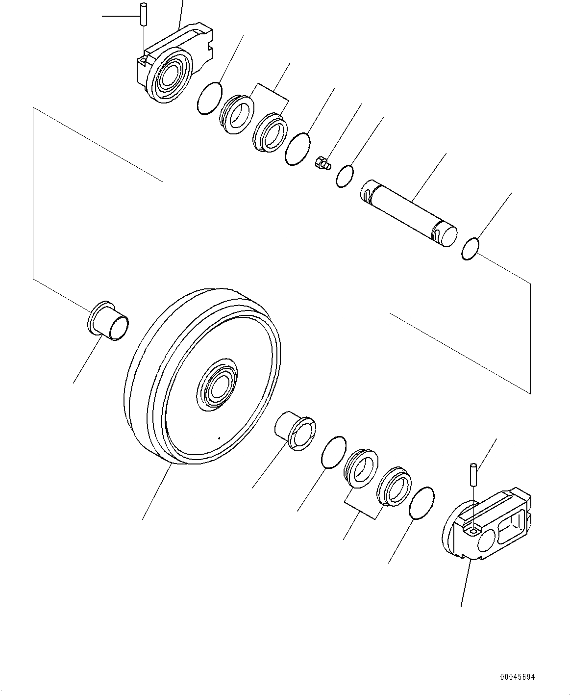 20Y-30-00322 Komatsu Колесо направляющее