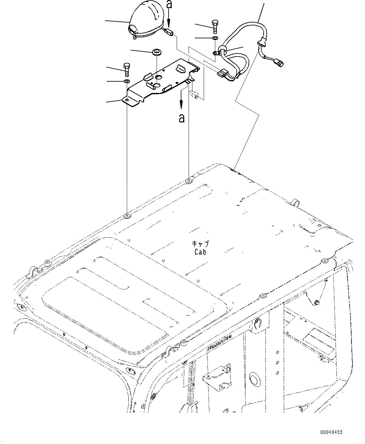 22B-54-17660 Komatsu ЛАМПА