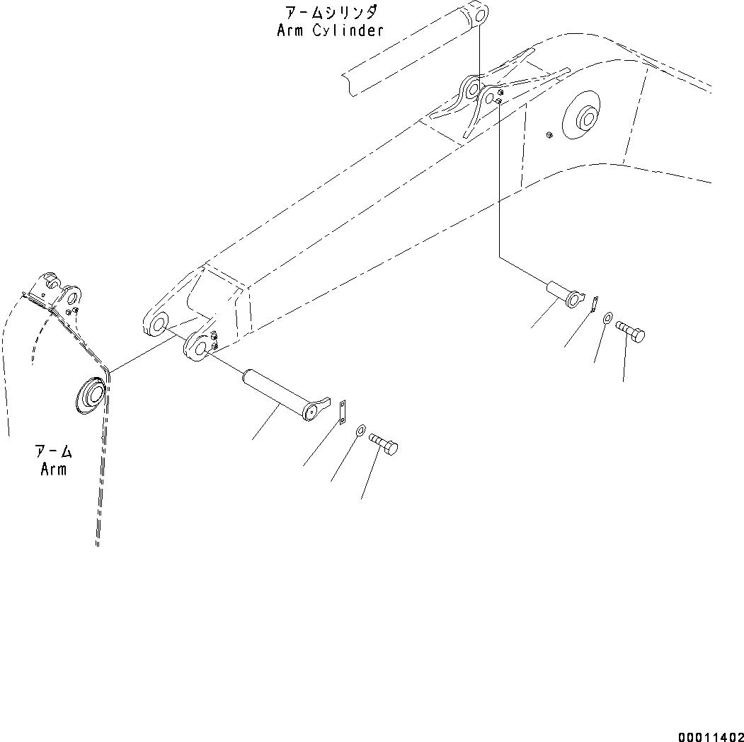 208-70-71680 Komatsu ПАЛЕЦ