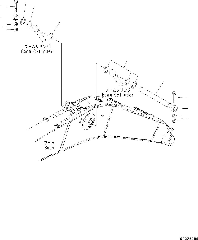 208-70-61860 Komatsu ПАЛЕЦ