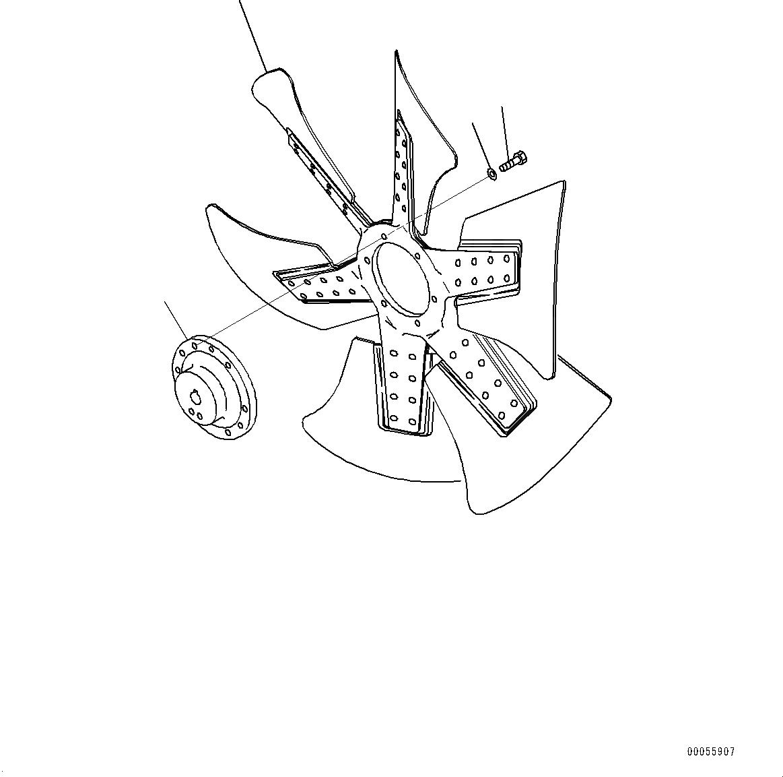 600-645-7850 Komatsu ВЕНТИЛЯТОР