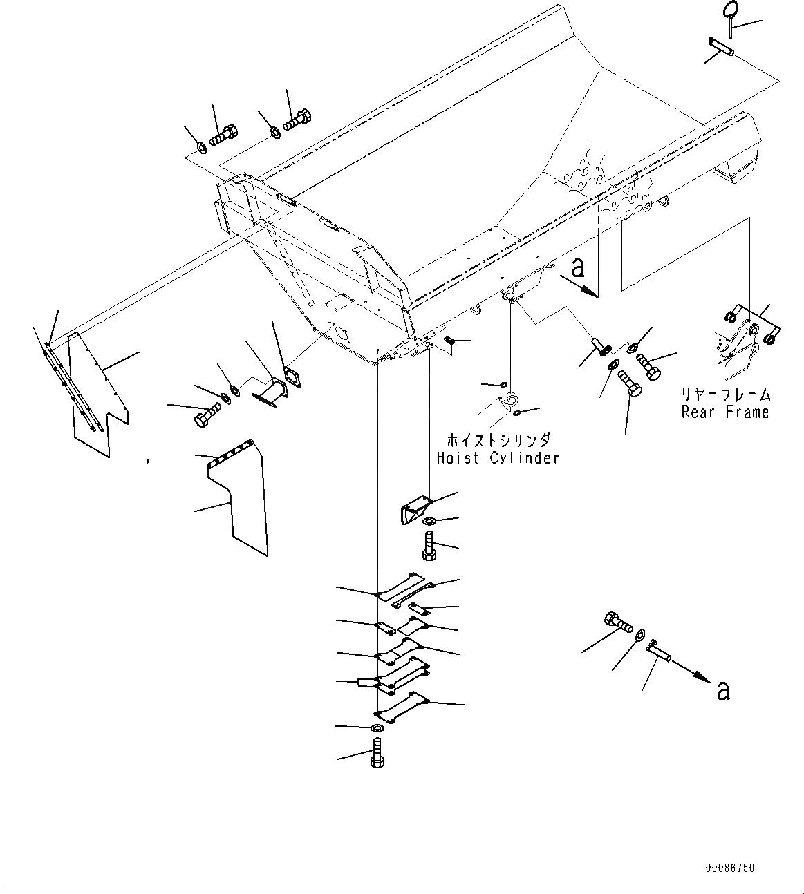 566-74-11280 Komatsu РАСПОРНАЯ ВТУЛКА
