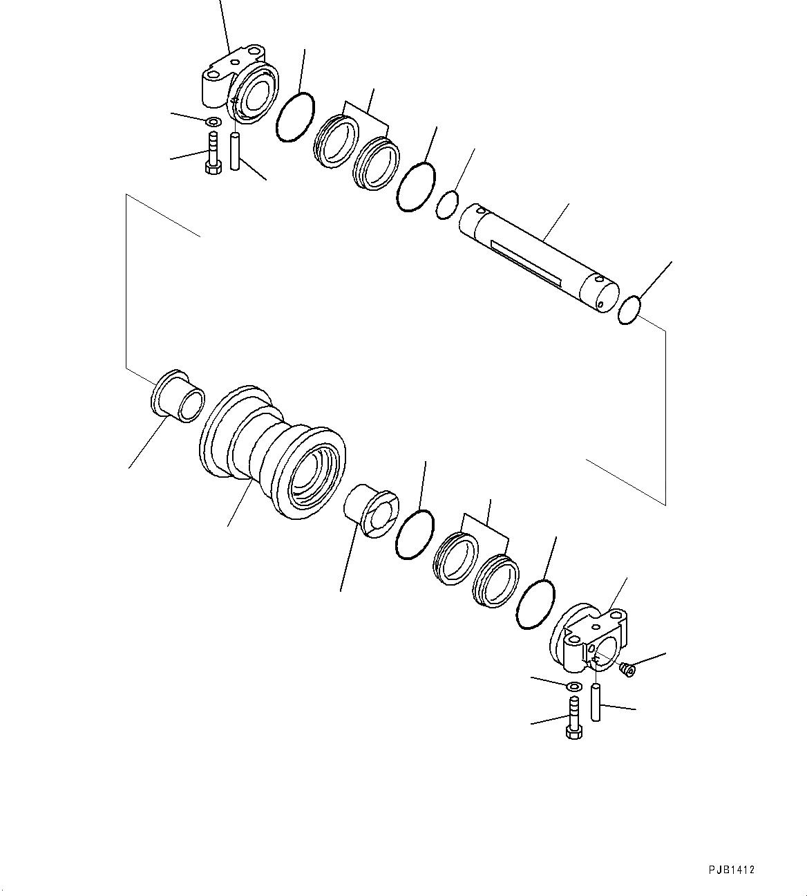 207-30-00511 Komatsu КАТОК ОПОРНЫЙ