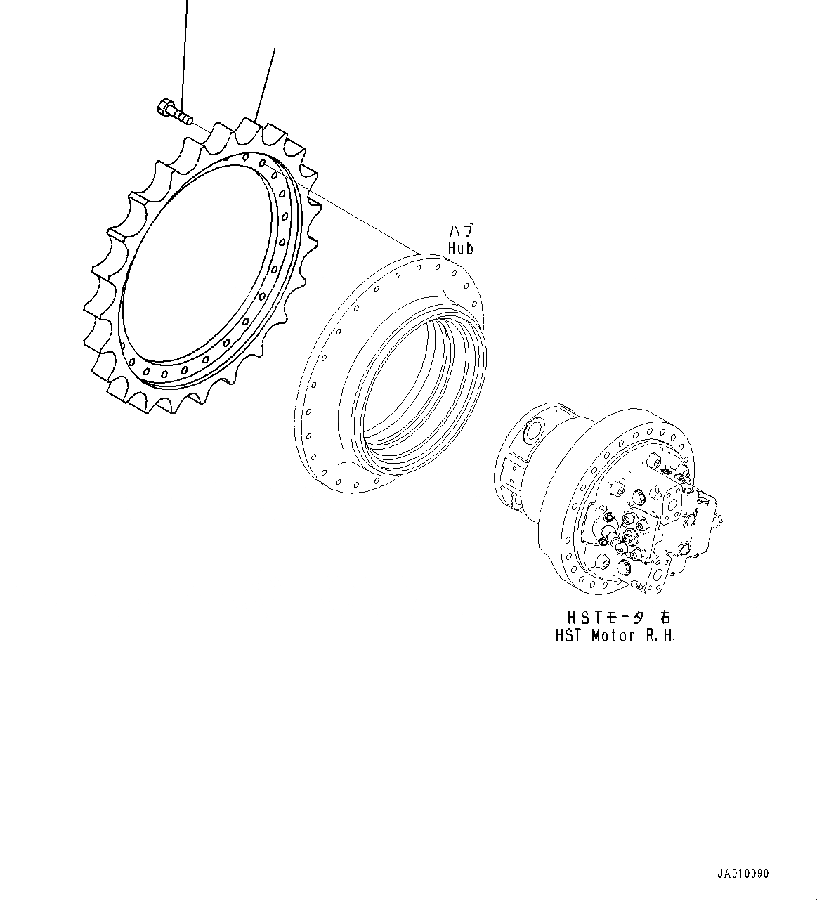 11Y-27-11510 Komatsu ЗВЕЗДОЧКА