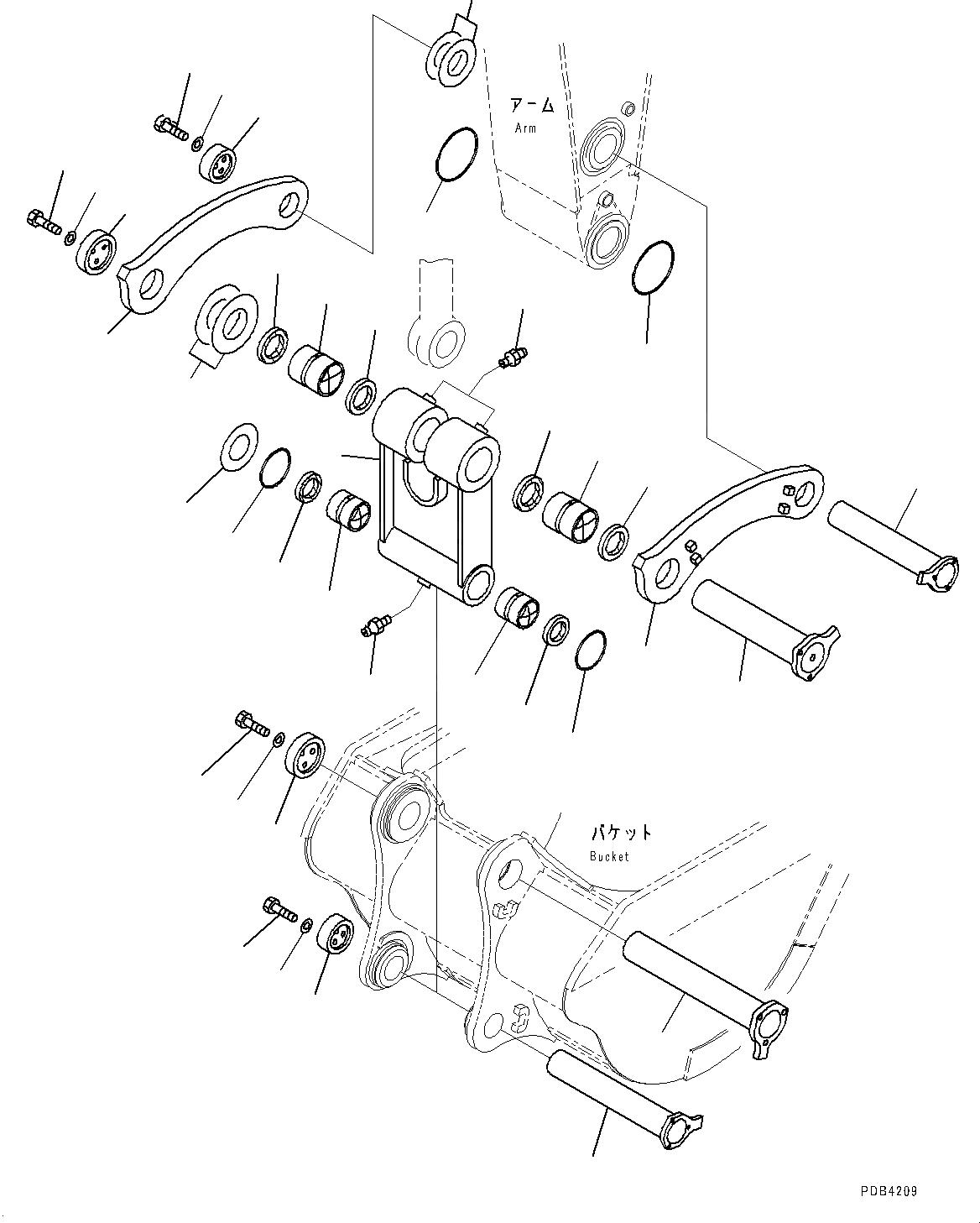 209-70-71350 Komatsu ВТУЛКА