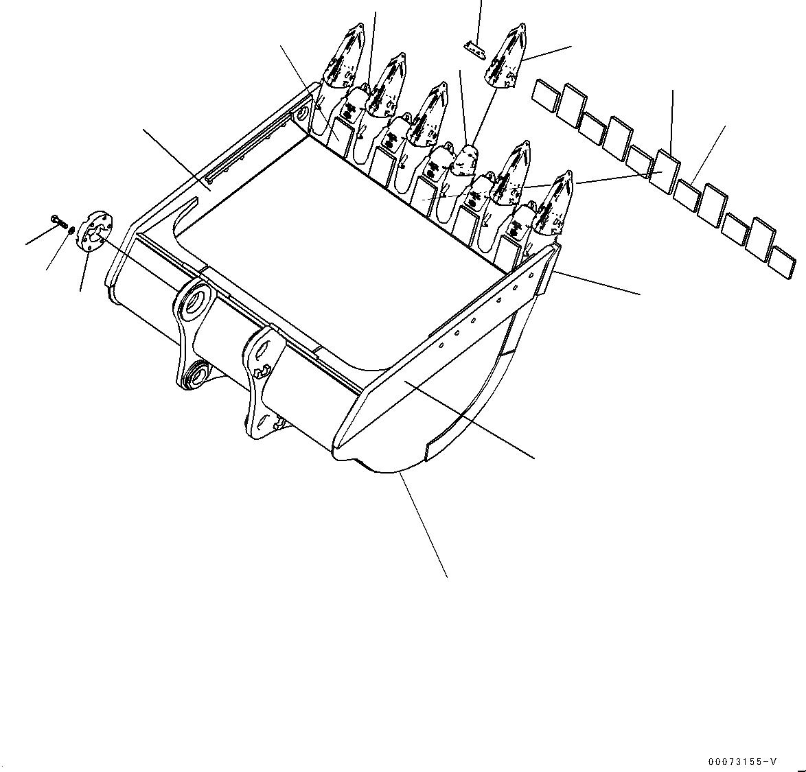 209-70-44241 Komatsu КОРОНКА