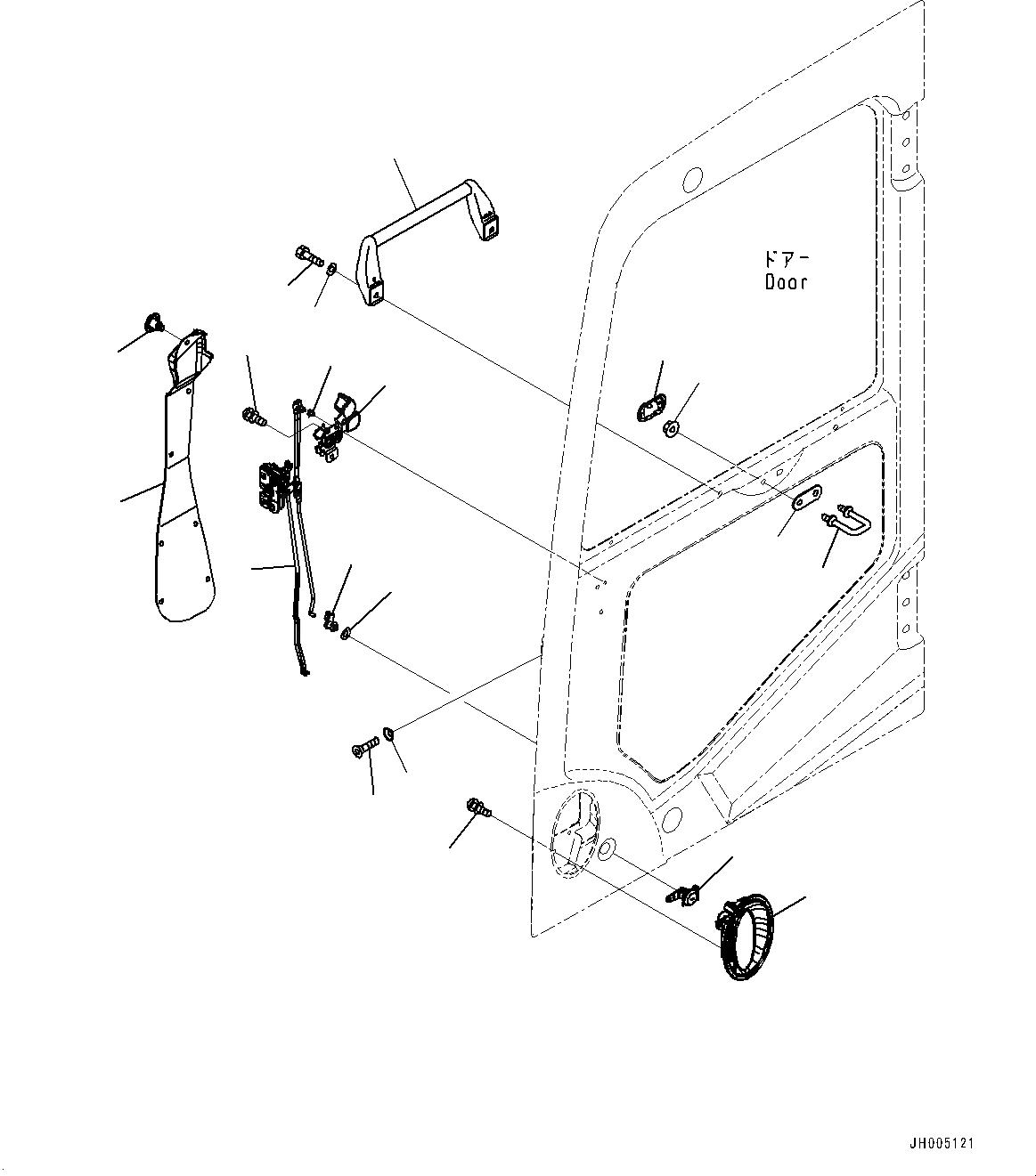 2A5-53-12710 Komatsu ЗАМОК