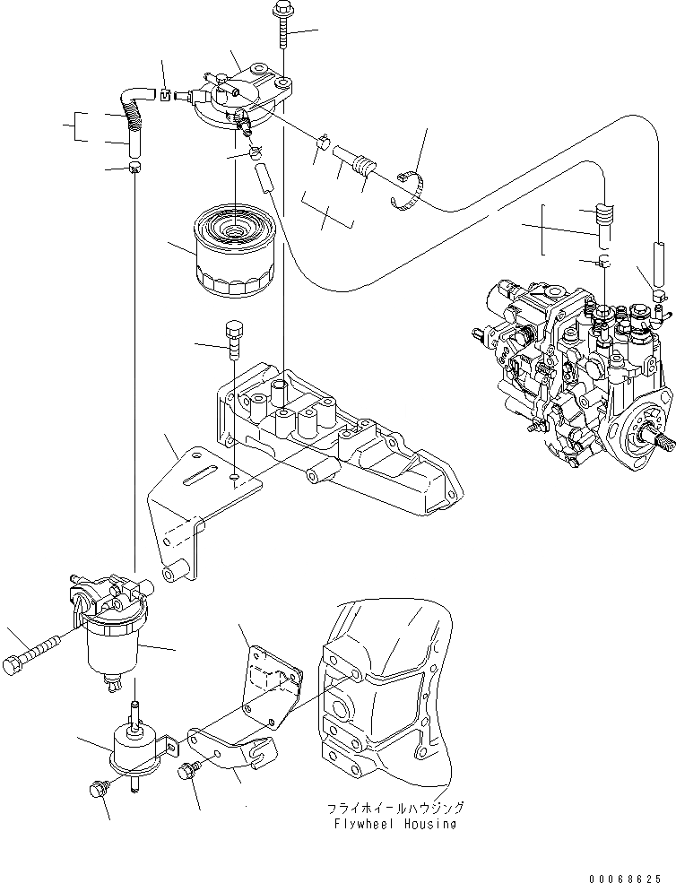 YM129242-55730 Komatsu ФИЛЬТР