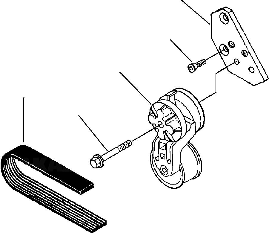 6732-61-4170 Komatsu Ремень