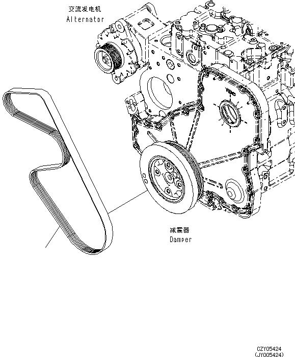 6732-82-3580 Komatsu РЕМЕНЬ