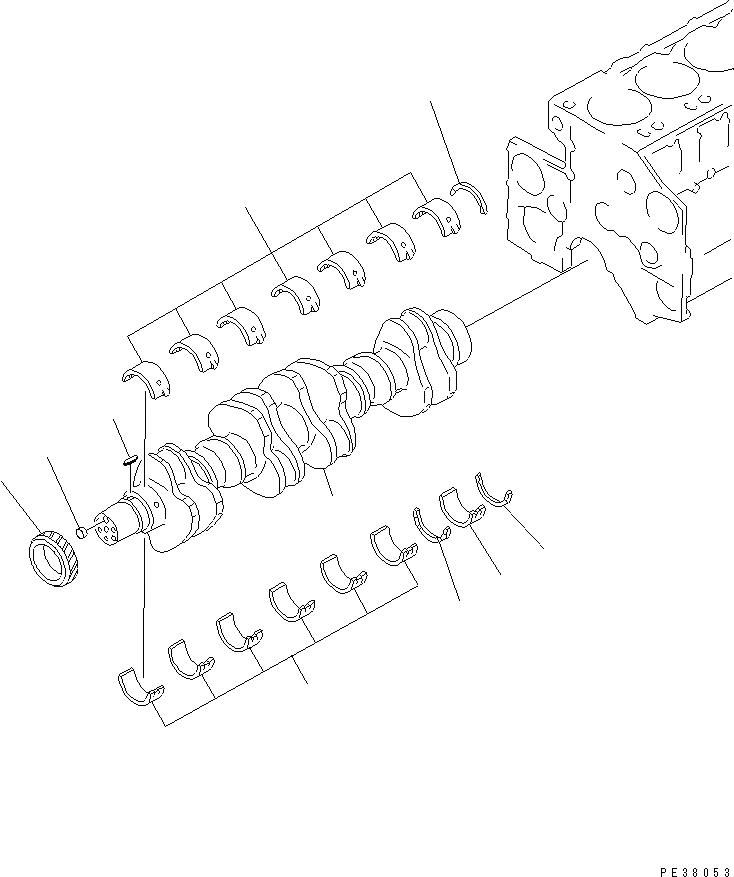 6210-21-8010 Komatsu Главный металл STD